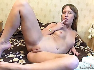 Sultry Redhead Cutie Gets To Sensually Touch Herself