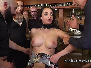 Slave serving two Chinese mistresses with his mouth.