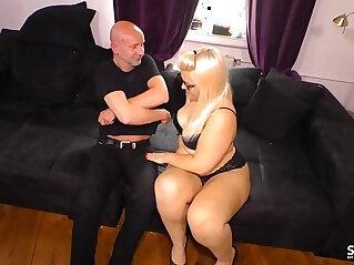 SEXTAPE GERMANY Chubby blonde slut sucks cock first porn